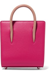 Christian Louboutin Paloma Nano Studded Textured Leather Tote Pink
