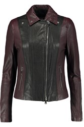 Vince Two Tone Leather Jacket Red