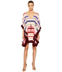 Kate Spade Miramar Beach 59 Kaftan Cover Up W Tassels Multi Women's Swimwear