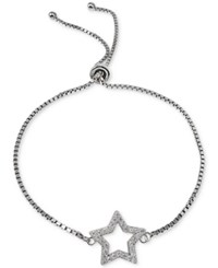 Giani Bernini Cubic Zirconia Star Adjustable Slider Bracelet In Sterling Silver Only At Macy's