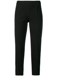 Piazza Sempione Cropped Trousers Black