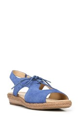 Naturalizer Women's Reilly Sandal Blue Suede