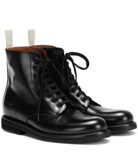 Common Projects Combat Leather Boots Black