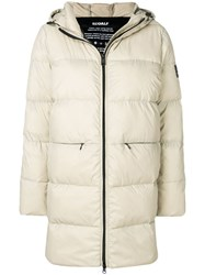 Ecoalf Padded Coat Nude And Neutrals