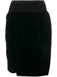 Rick Owens Velvet Knee Shorts Black
