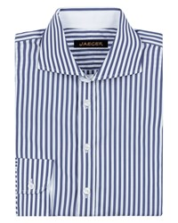 Jaeger Men's Bold Stripe Slim Shirt Navy