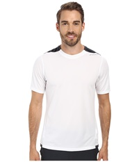 Brooks Rev S S Iii White Small Black Stripe Men's Short Sleeve Pullover