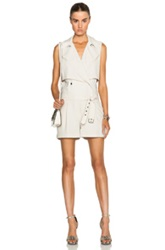Haute Hippie Trench Safari Romper In Neutrals