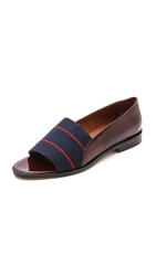 Band Of Outsiders Peep Toe Loafers Prune