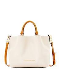 Dooney And Bourke City Large Barlow Leather Bag Bone