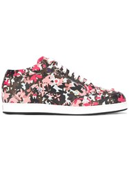 Jimmy Choo Floral Print Miami Sneakers White
