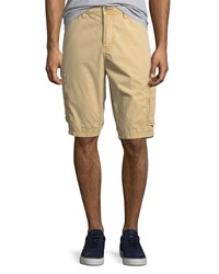 True Religion Officer Field Cargo Shorts Dark Beige