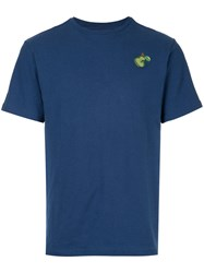 Jupe By Jackie Embroidered Pear T Shirt Cotton Spandex Elastane S Blue