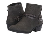 Blowfish San Fran Charcoal Rustic Faux Suede Pull On Boots Gray