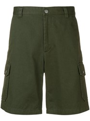A.P.C. Multiple Pocket Shorts Green