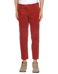 Santaniello And B. Trousers Casual Trousers Men Rust