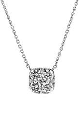 Women's Bony Levy 'Mika' Pave Diamond Small Square Pendant Necklace Nordstrom Exclusive