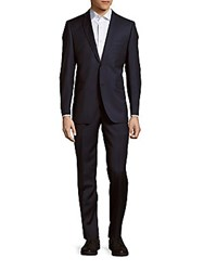 Ermenegildo Zegna Wool And Silk Blend Suit Navy