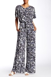 Vince Camuto Cowl Neck Printed Jumpsuit Multi