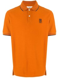 Kent And Curwen Embroidered Logo Polo Shirt Orange