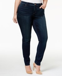 Inc International Concepts Plus Size Beyond Stretch Skinny Jeans Only At Macy's Midlake Wash