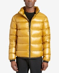Dkny Men's Essential Puffer Jacket Yellow
