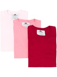 Cedric Charlier Chest Pocket T Shirt Pink And Purple