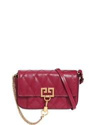 Givenchy Mini Pocket Quilted Leather Bag Purple