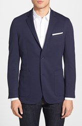 Vince Camuto Men's Big And Tall Slim Fit Stretch Knit Blazer Navy