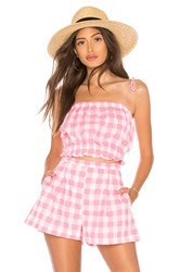 Mds Stripes Cropped Cami Top Pink