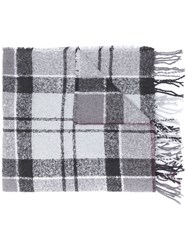 Barbour Checked Scarf Grey