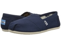 Toms Classics Navy Canvas Women's Slip On Shoes Blue