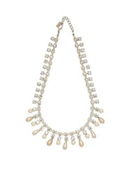Alessandra Rich Crystal And Faux Pearl Necklace Crystal