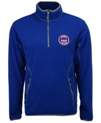 Antigua Chicago Cubs Ice Quarter Zip Pullover Royalblue