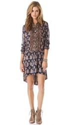 Burning Torch Florentine Tunic Dress Multi