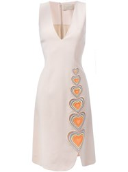 Christopher Kane Macrame Heart Shift Dress Nude And Neutrals