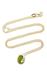 Zaiken Jewelry Oval Peridot Pendant Necklace Green