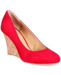 Rialto Celina Wedge Pumps Women's Shoes Red