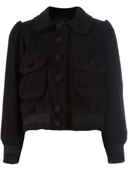 Marc Jacobs Cropped Corduroy Jacket Black