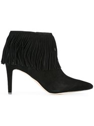Sam Edelman Fringed Ankle Boots Black