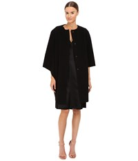 Alberta Ferretti Dolman Sleeve Open Front Jacket Black Women's Coat