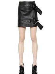 J.W.Anderson Belted Nappa Leather Mini Skirt