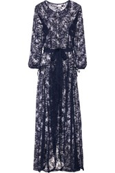 Agent Provocateur Cathie Lace Robe Navy