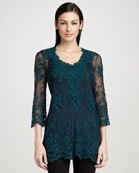Xcvi Maidenfair Mesh Embroidered Tunic Women's