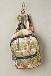 Anthropologie Palm Majorelle Backpack Pink