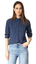 Madewell Slim Button Down Shirt Blue Black
