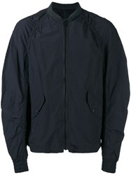 Kolor Ribbed Neck Bomber Jacket Blue