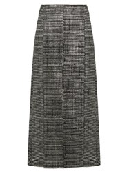Jil Sander Bourgeois Striped Jacquard Pencil Skirt Black Multi