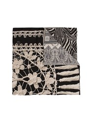 Pierre Louis Mascia Embroidered Scarf Black