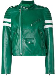 Red Valentino Quilted Racer Jacket Green